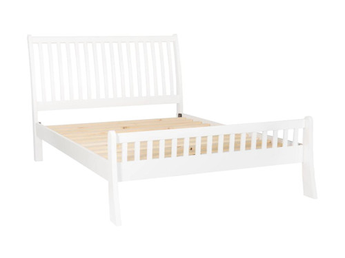 DOUBLE MAJORCA BED (BED03-46-P) -  WHITE