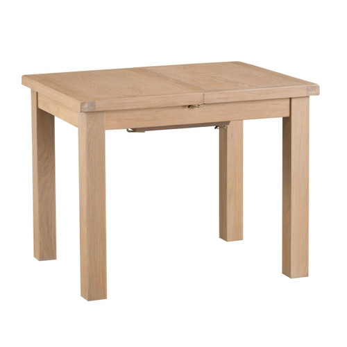 DOVIA (LO-10BET) EXTENSION DINING TABLE WITH METAL RUNNER - 1000(W) - WASHED OAK