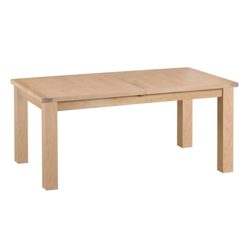 DOVIA (LO-17BET) EXTENSION DINING TABLE WITH METAL RUNNER - 1700(L) - WASHED OAK