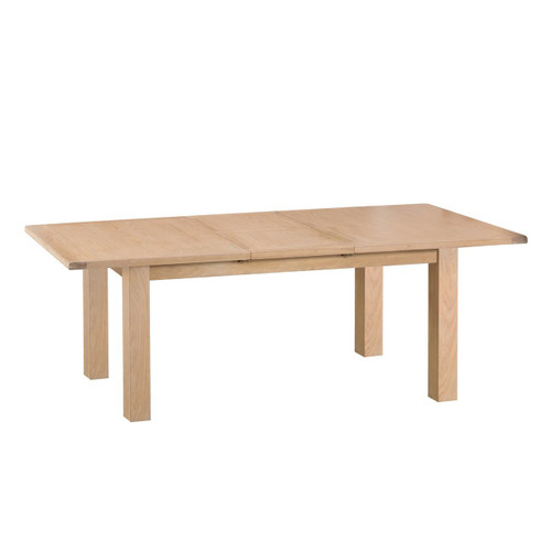 DOVIA (LO-24BET)  EXTENSION DINING TABLE WITH METAL RUNNER - 2400(L) - WASHED OAK