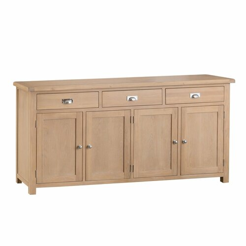 DOVIA (LO-4DS) LARGE 4 DOOR SIDEBOARD - 1000(H) X 2000(W)  - WASHED OAK