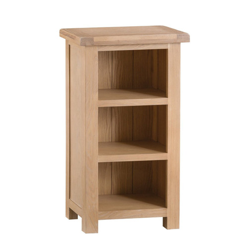 DOVIA (LO-NBC) NARROW BOOKCASE WITH  3 SHELVES  - 900(H) X 500(W)  WASHED OAK