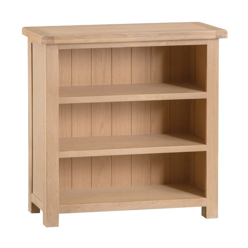 DOVIA (LO-SBC) SMALL WIDE BOOKCASE WITH  3 SHELVES  - 900(H) X 900(W)  - WASHED OAK