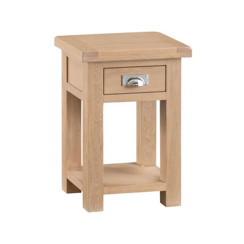 DOVIA (LO-SIT)  SIDE TABLE WITH 1 DRAWER  - WASHED OAK