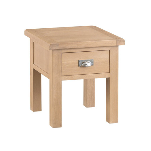 DOVIA (LO-LT) LAMP  TABLE WITH 1 DRAWER  - WASHED OAK