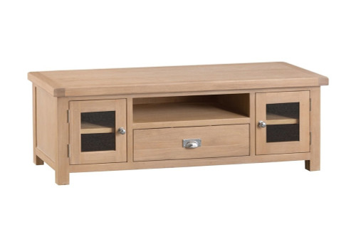 DOVIA (LO-LTV) LARGE TV UNIT WITH 2 DOOR 1 DRAWER - 500(H) X 1500(W) - WASHED OAK