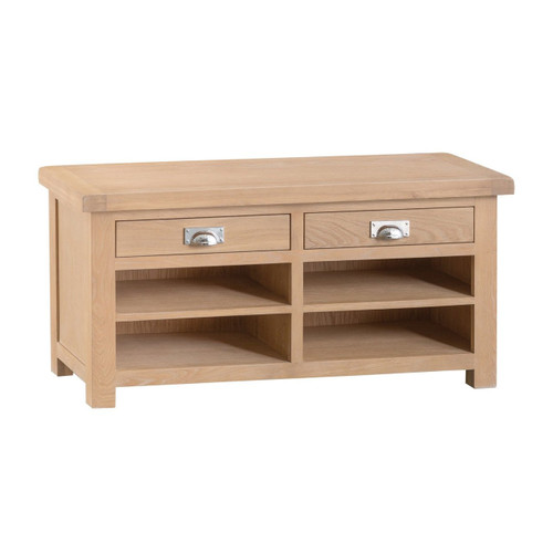 DOVIA (LO-HB) HALL BENCH  WITH 2 DRAWERS  - WASHED OAK