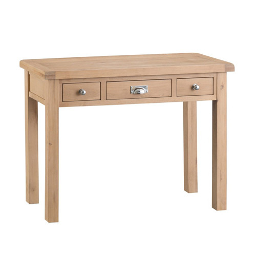 DOVIA (LO-) 3 DRAWER  DRESSING TABLE - 830(H) X 1100(W) -WASHED OAK