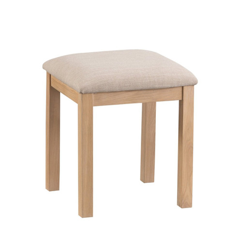 DOVIA (LO-VM) DRESSING TABLE STOOL- 480(H) X420(W) - WASHED OAK