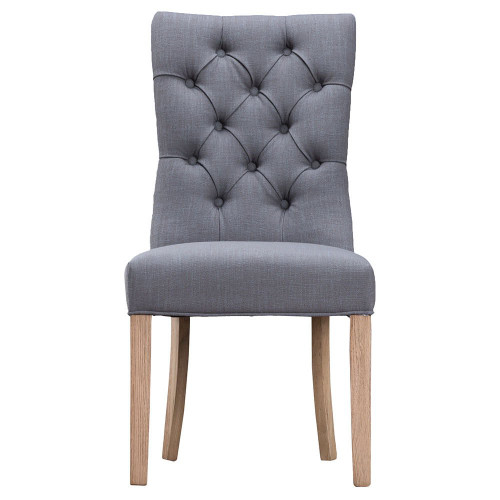 ARRAY CURVED BUTTONED BACK CHAIR  (CH03-GR)  - GREY
