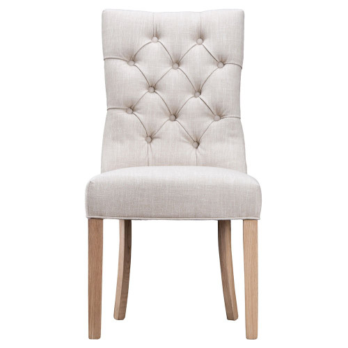 ARRAY CURVED BUTTONED BACK CHAIR  (CH03-BE)  - BEIGE