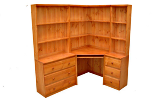 CALIFORNIA CORNER DESK + HUTCH ONLY - 900(W) X 900(D) - ASSORTED COLOURS