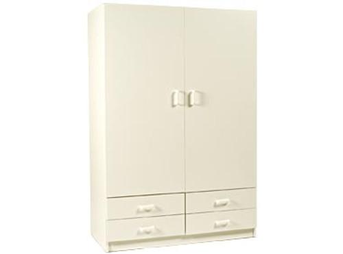 REXY (AUSSIE MADE) (1204R) 2 DOOR / 4 DRAWER WARDROBE - 1800(H) x 1200(W) - WHITE