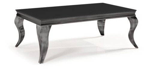 CHATEAU COFFEE TABLE-  1200(W) x 700(D) - BLACK / NICKEL