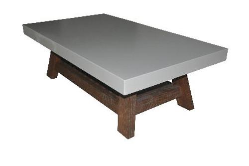 COPACABANA COFFEE TABLE WITH MAGAZINE RACK-  1300(W) X 700(D) - WHITE
