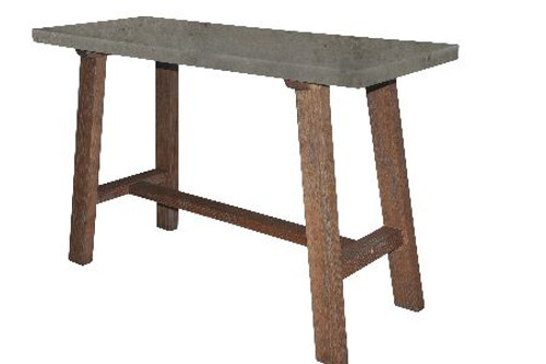 COPACABANA SOFA / HALL  TABLE  WITH CONCRETE TOP -  760(H) X 1200(W) X 450(D)