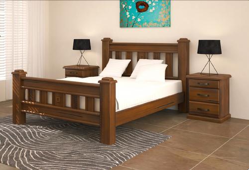 QUEEN JAMAICA BED (VJM‐001) -  BLACKWOOD