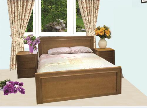 MOSMAN QUEEN 3 PIECE BEDSIDE BEDROOM SUITE  -LIGHT BROWN