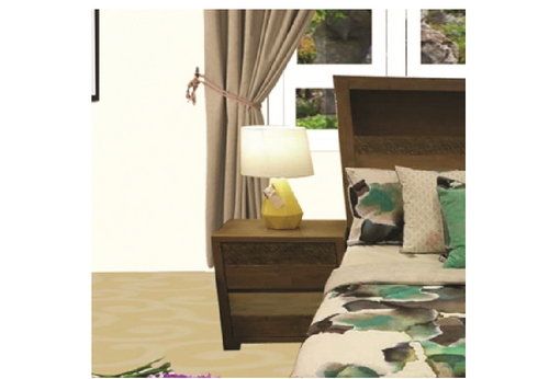 COASTAL  TASIE OAK BEDSIDE TABLE - COLOUR AS PICTURED