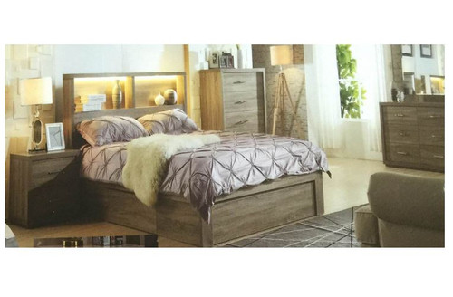 BENZIMA  KING 5 PIECE DRESSER  BEDROOM SUITE - (MODEL:LS-113M) - MOCHA