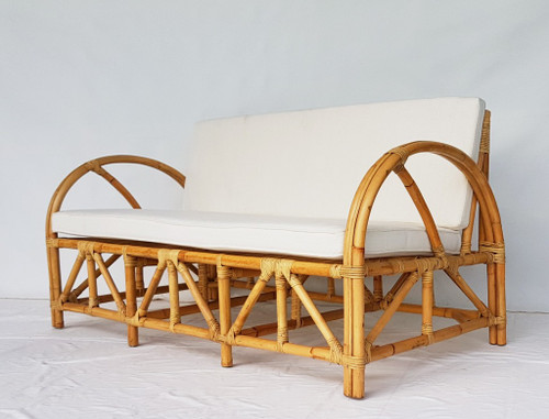 LAURIE 2 SEATER CANE LOUNGE (MODEL:DET825) - NATURAL