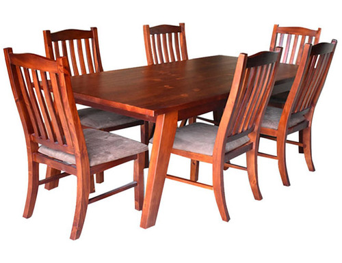 DENVER 7 PIECE DINING TABLE WITH 1800(L) X 900(W) DINING TABLE - AS PICTURED