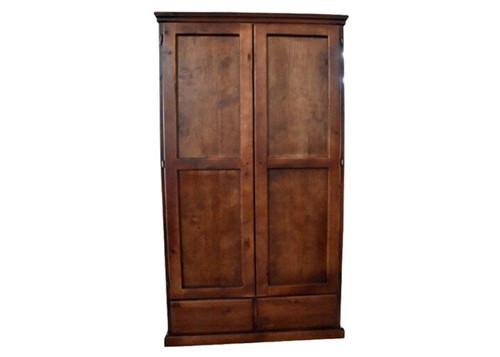 PINEHURST 2 DOORS WARDROBE - 2000(H) X 1000(W) - BLACKWOOD