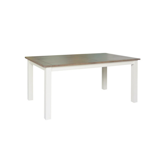 BRIGHTON DINING TABLE ONLY - 1800(L) X 1000(W) - WEATHERED GREY / COTTON WHITE