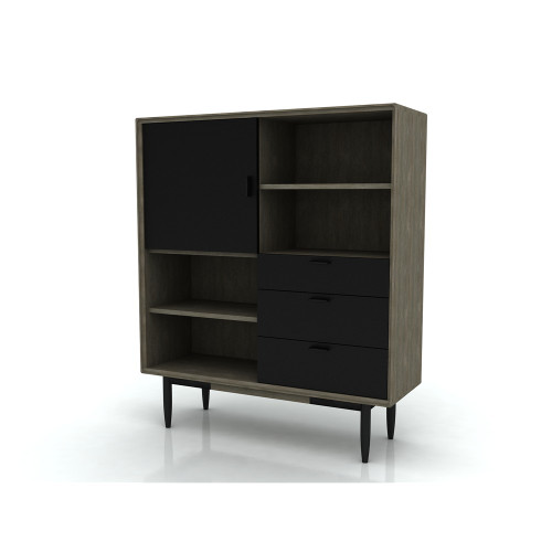 ALBA  HIGH BOARD WITH 3 DRAWER /  1 DOOR  -  1400(H) x 1200(W) -  2 TONE