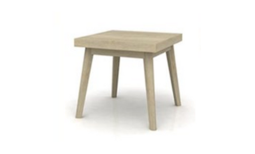 SUSSEX  HARDWOOD SQUARE  LAMP TABLE - 600(W) - MULTI DISTRESSES GREY