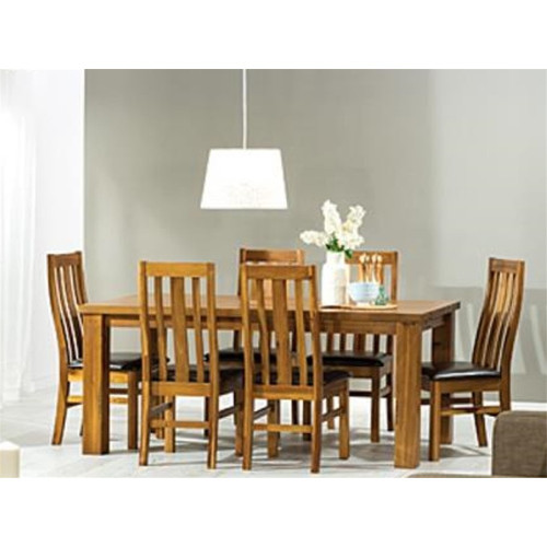 PEYTON HARDWOOD DINING  TABLE ONLY  - 1800(W) x 1000(D)  -  LIGHT WALNUT