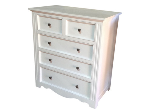 ANZAC 5 DRAWER TALLBOY - 900(W) - PAINTED COLOURS