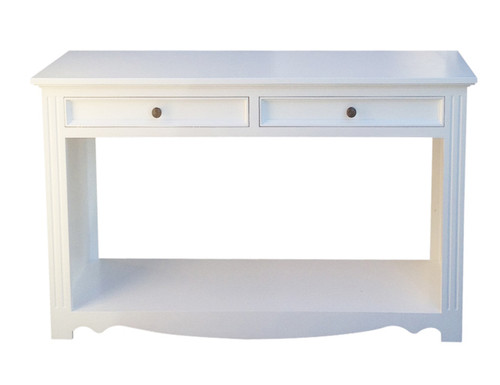 ANZAC 2 DRAWER HALL TABLE  - WHITE