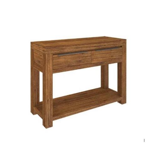 ALPINE  CONSOLE HALLWAY TABLE WITH 2 DRAWERS   -850(H) x 1200(W) x 400(D) - GOLDEN WALNUT