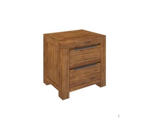 ALPINE BEDSIDE TABLE WITH 2 DRAWERS - GOLDEN WALNUT