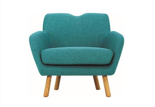 WAGON  FABRIC LOUNGE CHAIR - SEAT: 470(H) - NILE GREEN