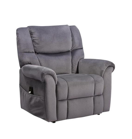 MONROE ELECTRIC MOTOR LIFT FABRIC RECLINER CHAIR - NAVY