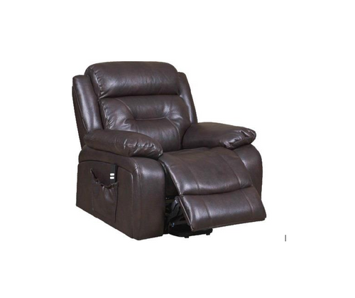 MAYNE LIFT RECLINER CHAIR WITH BACK UP BATTERY - BREEZE BROWN