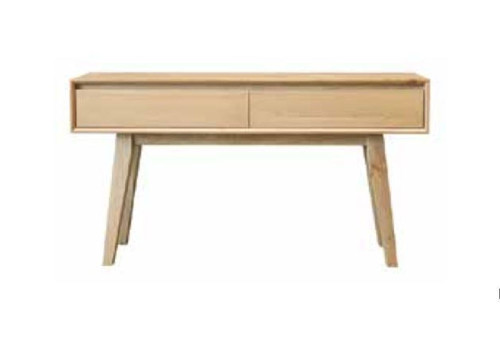 SUMMIT 2 DRAWER HALL TABLE   870(H) X 1350(W)  - LIGHT OAK