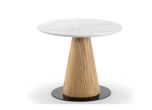 DALLIN LAMP TABLE (SHORT) - 500(H) X 450(DIA) - ASH + WHITE