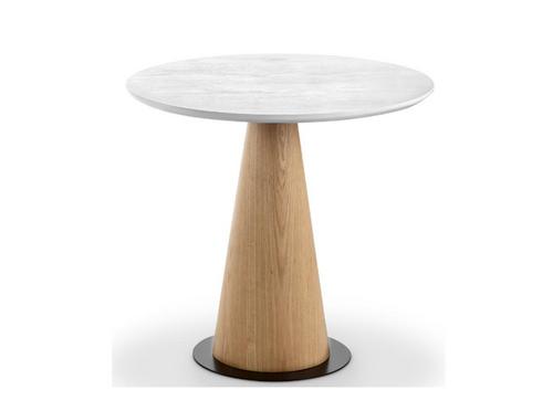 DALLIN LAMP TABLE (TALL) - 450(H) X 500(Dia) - ASH + WHITE