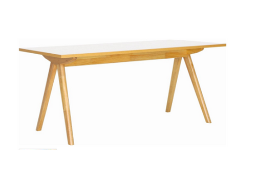ADEN   DINING  TABLE - 1600(L) x 850(W)  - OAK + WHITE