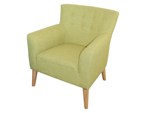 DARCY  ACCENT FIESTA FABRIC UPHOLSTERED  SOFA ARM CHAIR - APPLE