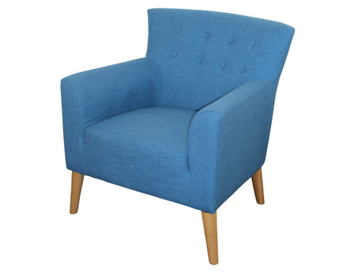 DARCY  ACCENT FIESTA FABRIC UPHOLSTERED  SOFA ARM CHAIR - OCEAN