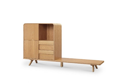 FINELY  TV UNIT WITH  STORAGE -   1050(H) x 1800(W) -ASH