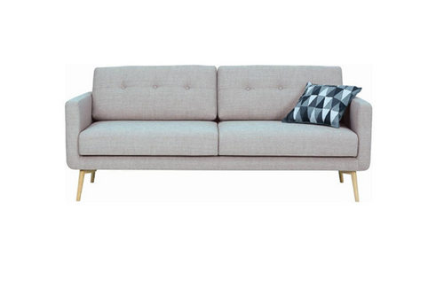 STREAM 3 SEATER FABRIC UPHOLSTERED SOFA  - TIMBERWOLF