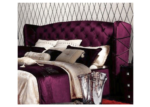 DOUBLE  CLEMENTI  FABRIC OR LEATHERETTE UPHOLSTERED  BUTTONED BEDHEAD ONLY  (MODEL: B016)  - ASSORTED COLOURS