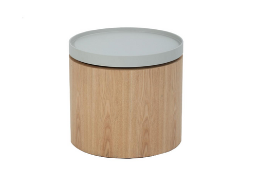 CARDEN  SIDE   TABLE  WITH 440(DIA) - LIGHT GREY