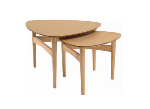 POET COFFEE TABLES - SET OF 2   - 600(W) x 580.6(D)-NATURAL OAK
