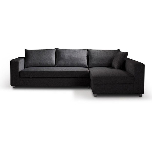 KYRA FABRIC SOFA BED WITH  RIGHT CHAISE AND STORAGE -GREY 70